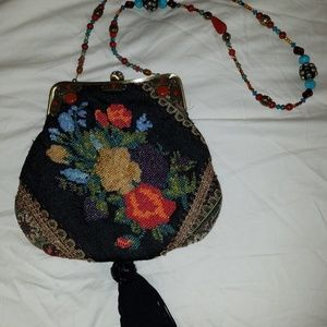 Mary Frances Vintage beaded floral evening bag